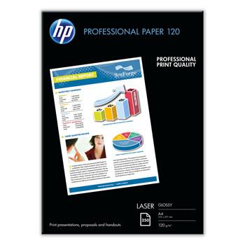 HP - A4 Professional glossy laser Foto papir 120 gram - 250 ark