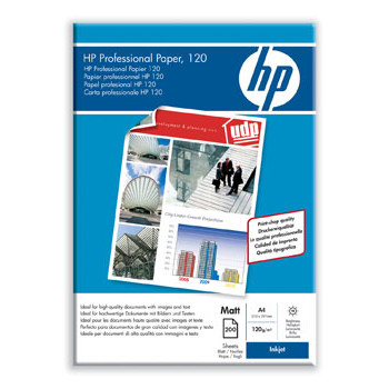 HP - A4 Professional InkJet Foto papir Mat 120 gram - 200 ark