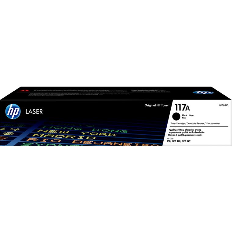 HP CLJ 117A Black LaserJet Toner Cartridge 1K