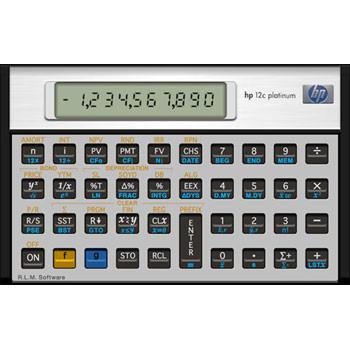 HP 12CPL Platinum - Finans lommeregner