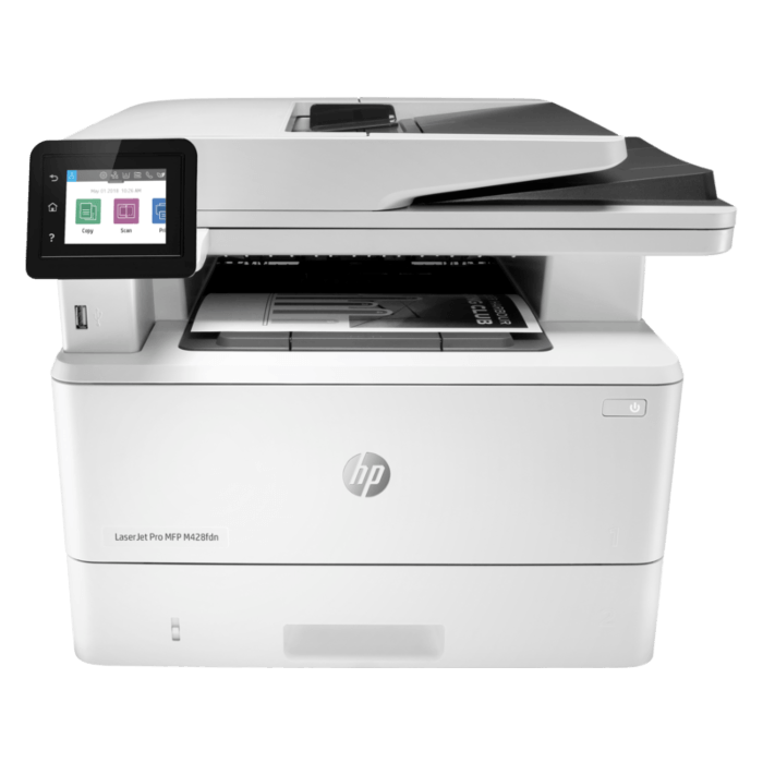 HP LaserJet Pro M428fdn mono MFP printer