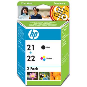 HP No21 / No22 ink (sampack), blistered