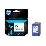 HP No22 color ink cartridge, blistered