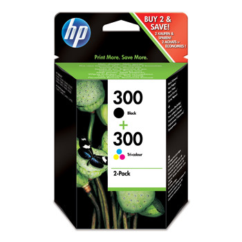 HP No300 black/color ink cartridge sampackblistered