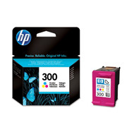 HP No300 tri-colour ink cartridgeblistered