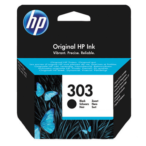 HP No303 black ink cartridge, blistered