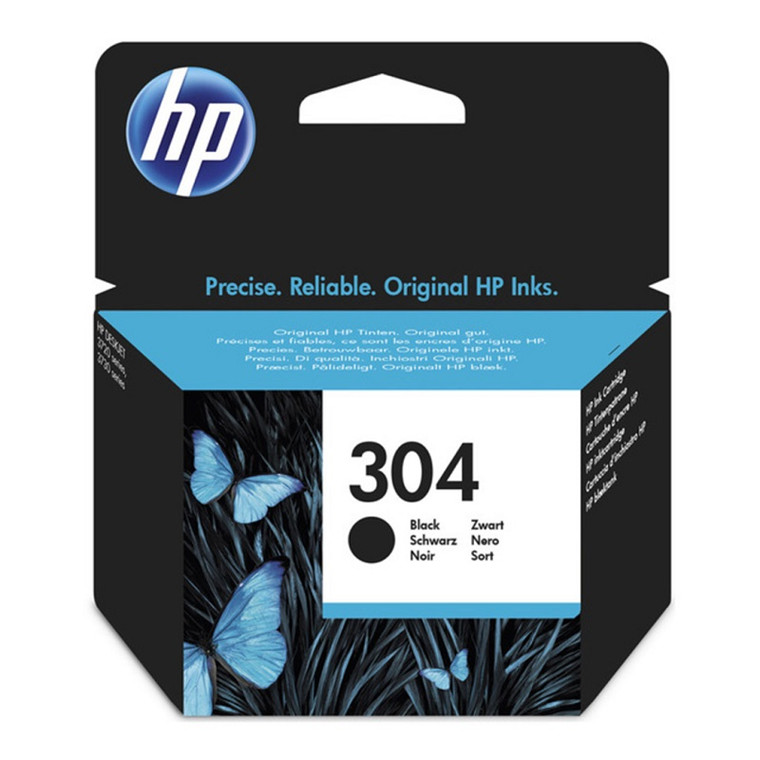 HP No304 black ink cartridge blistered