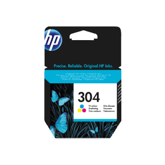 HP No304 colour ink cartridge blistered