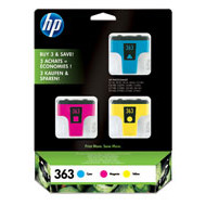 HP No363 Ink cartridges 3-pack (cyan/magenta/yellow)blistered