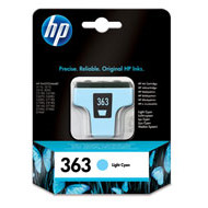 HP No363 light cyan ink cartridgeblistered