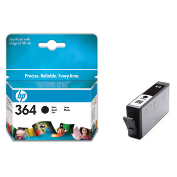 HP No364 black ink cartridge, blistered