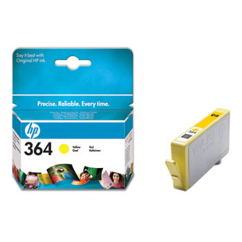 HP No364 yellow ink cartridge, blistered