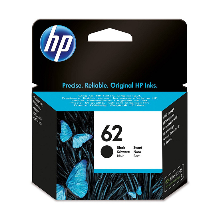 HP No62 black ink cartridge