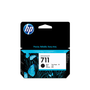 HP No711 black ink cartridge, 38 ml