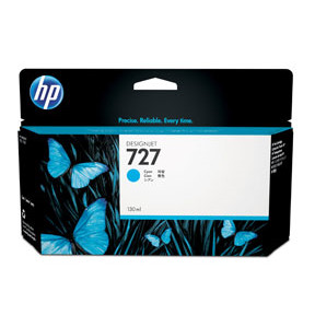 HP No727 Cyan ink cartridge, 130 ml.
