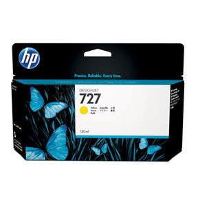HP No727 Yellow ink cartridge, 130 ml.