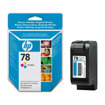 HP No78 color ink cartridge, blistered