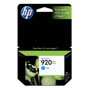 HP No920 XL officejet cyan ink cartridge