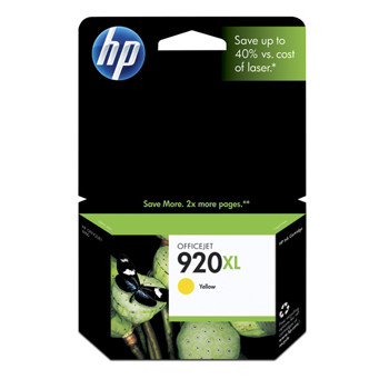 HP No920 XL officejet yellow ink cartridge