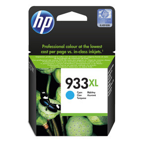 HP No933 XL cyan ink cartridge, blistered