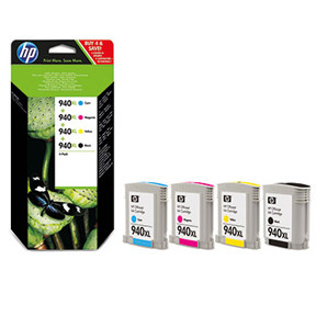 HP No940 XL CMYK ink cartridge, combo pack