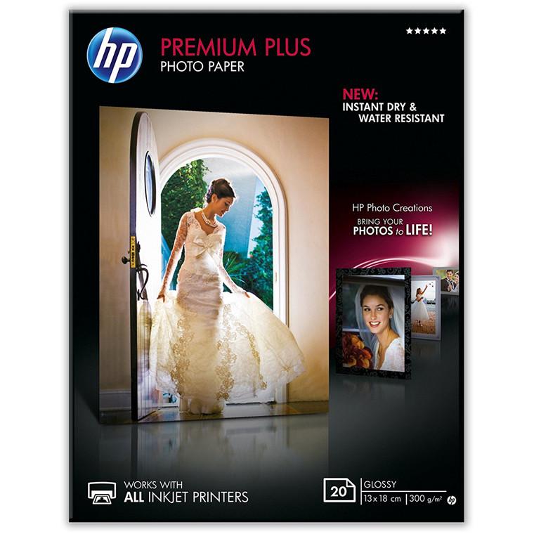 Fotopapir 13x18 cm HP Premium Plus Glossy 300 gram - 20 ark