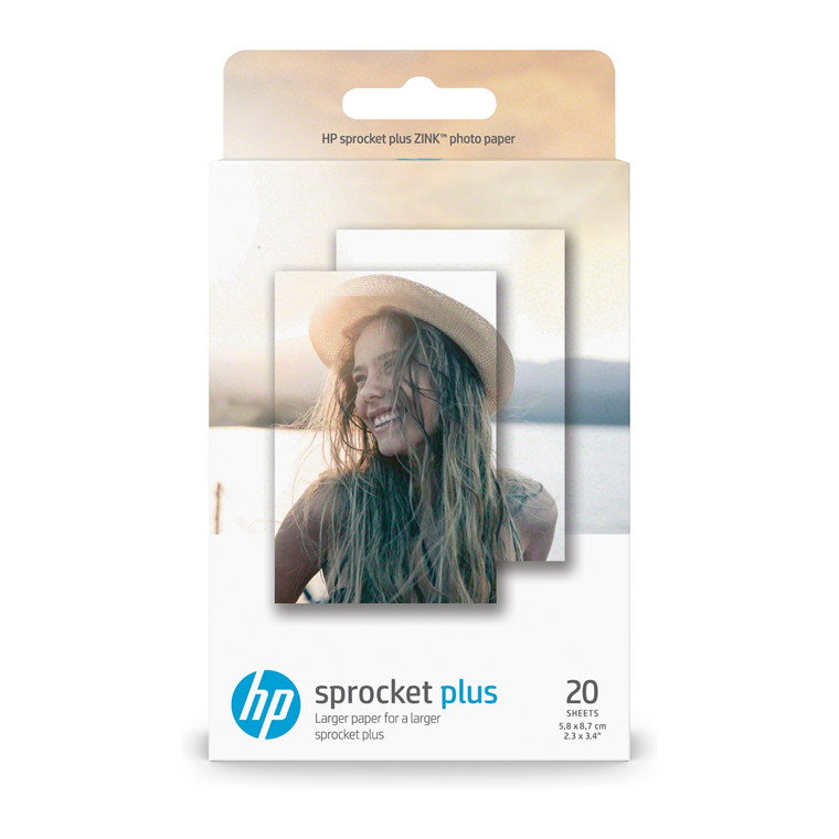 HP Sprocket Plus Photo Paper sticky-backed sheets 58x87mm (20)
