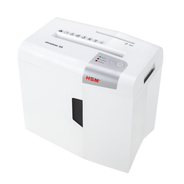 HSM Shredstar X5 - Makuleringsmaskine konfetti 4,5 x 30 mm - 5 ark