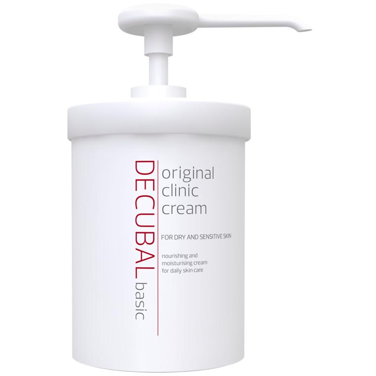 Hudcreme, Decubal Clinic, uden farve og parfume, 38% fedt, 1000 ml