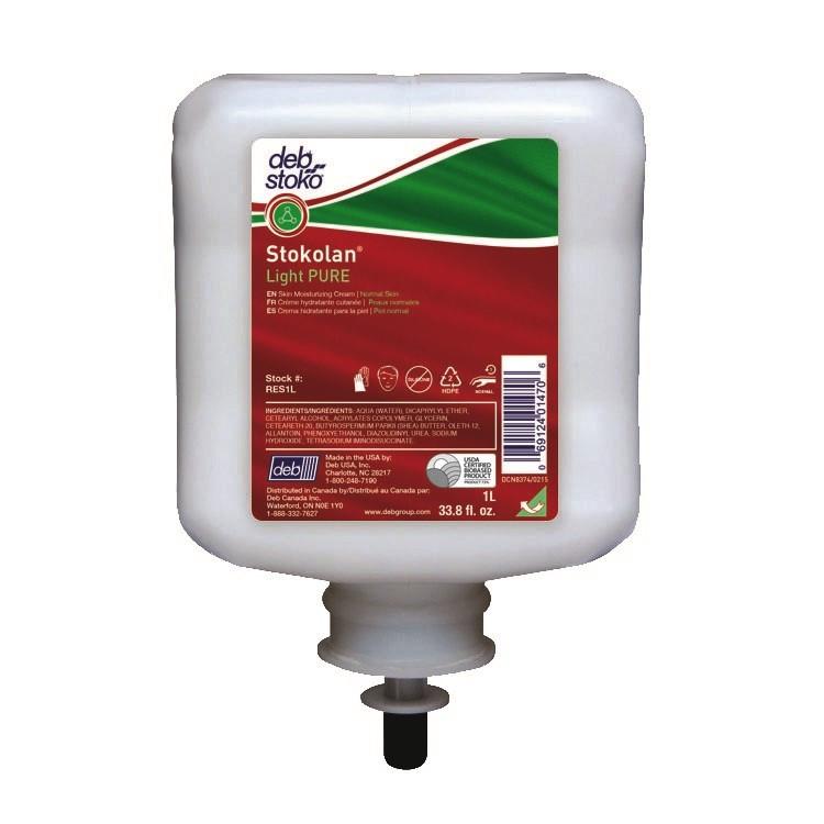 Hudcreme Stokolan Light PURE - styrke 1 - 1 L Uno patron RES1L