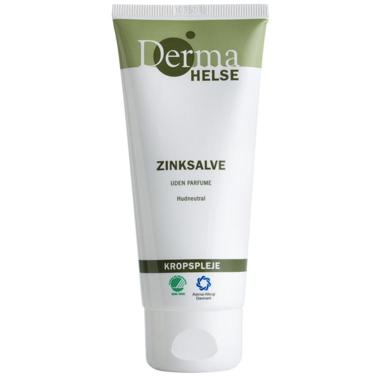 Hudplejesalve, Derma Helse, uden parfume, 20% zink, 100 ml