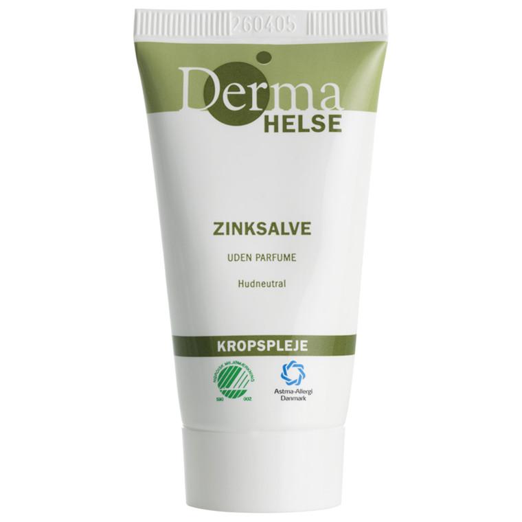 Hudplejesalve, Derma Helse, uden parfume, 20% zink, 25 ml