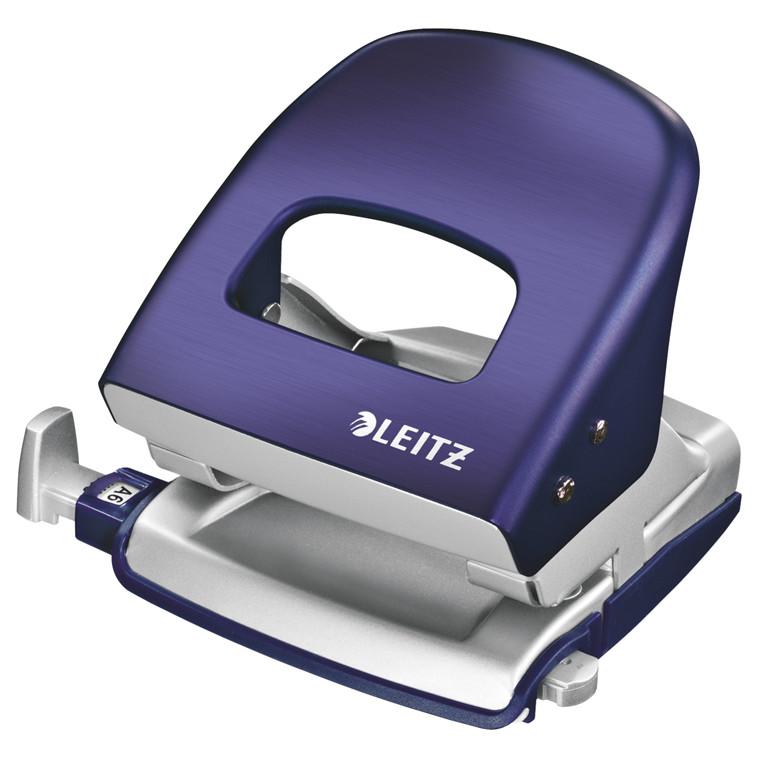Hulmaskine Leitz Style -  2 huls til 30 ark i titan blå