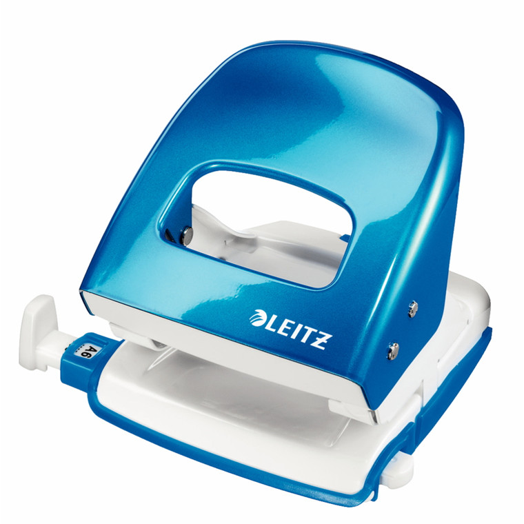 Hulmaskine Leitz 5008 - WOW 2huls til 30 ark i blå
