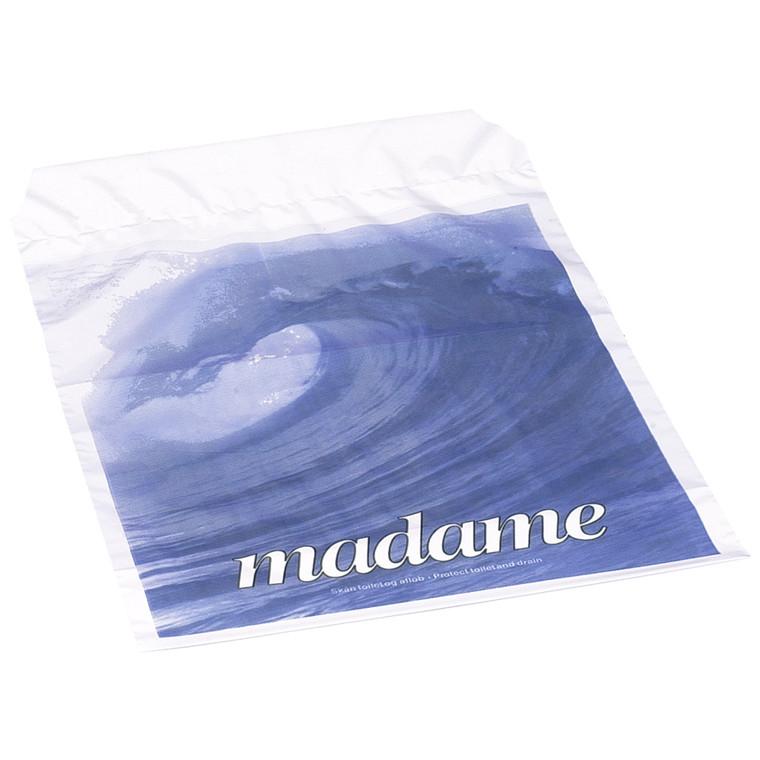 Hygiejnepose Madamepose bølgemotiv hvid 500stk/kas