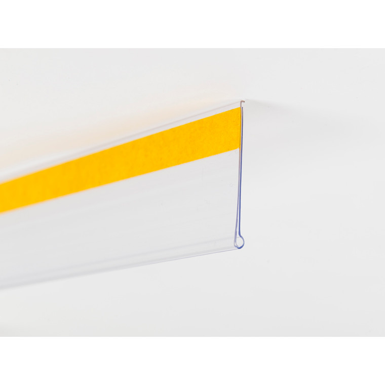 Hyldeforkant klar 39 x 885 mm - Med tape