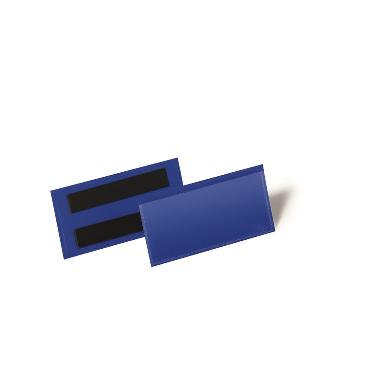 Hyldeforkant blå med magnet - 100 x 38 mm