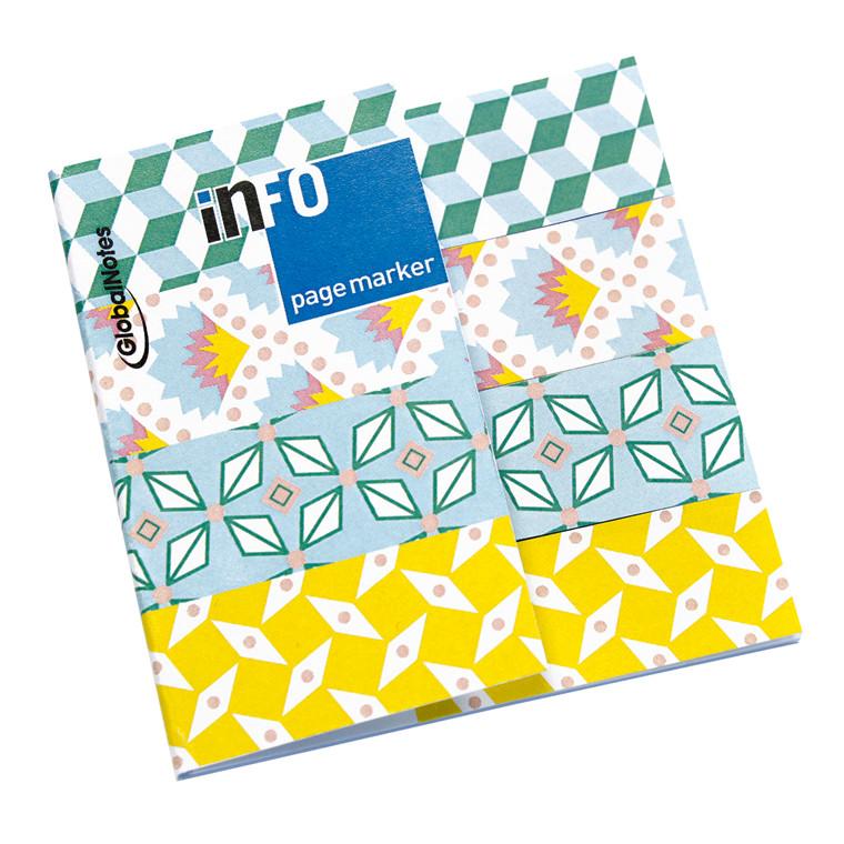 Indeksfaner Info Page Marker Petit Pan Design - 18 x 70 mm - 4 x 25 stk