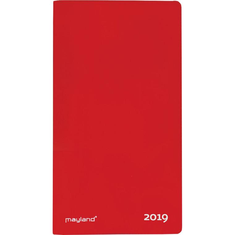 Index Planner måned 2019 Mayland med telefon register lakvinyl rød 9 x 17 cm - 19 0900 10