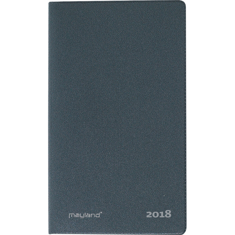 Indexplanner minikalender 2018 mørk grå 8 x 13 cm - Mayland 18 0710 00