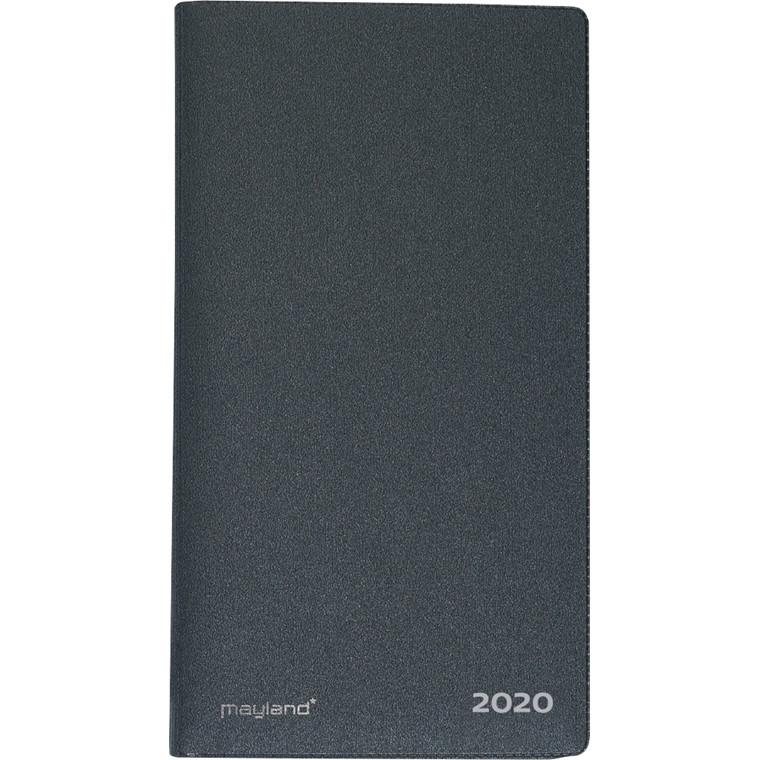 Indexplanner m/tlf.reg vinyl 9x17cm mørk grå 20 0900 50
