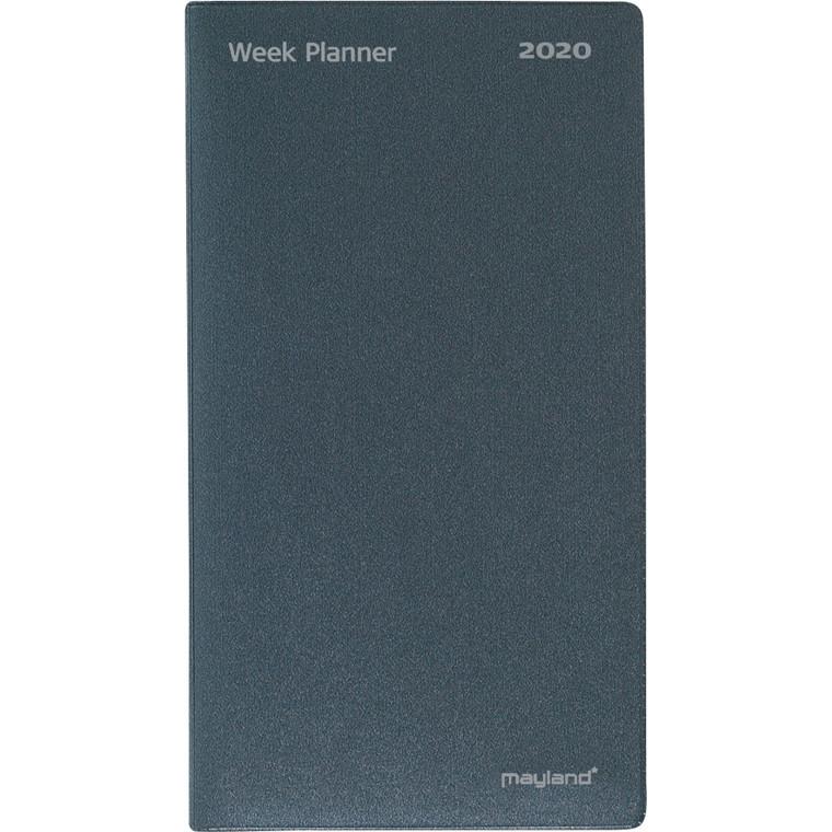Indexplanner vinyl grå foldet 9x17cm 20 0810 00