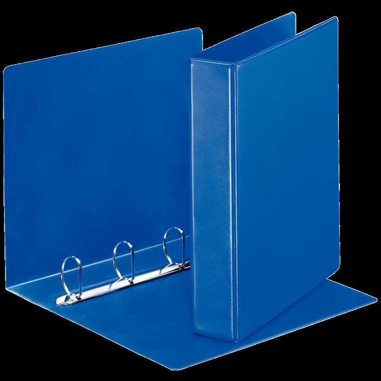 Indstiksmappe Esselte A4 blå med 4 ringe og 63 mm ryg - 49762