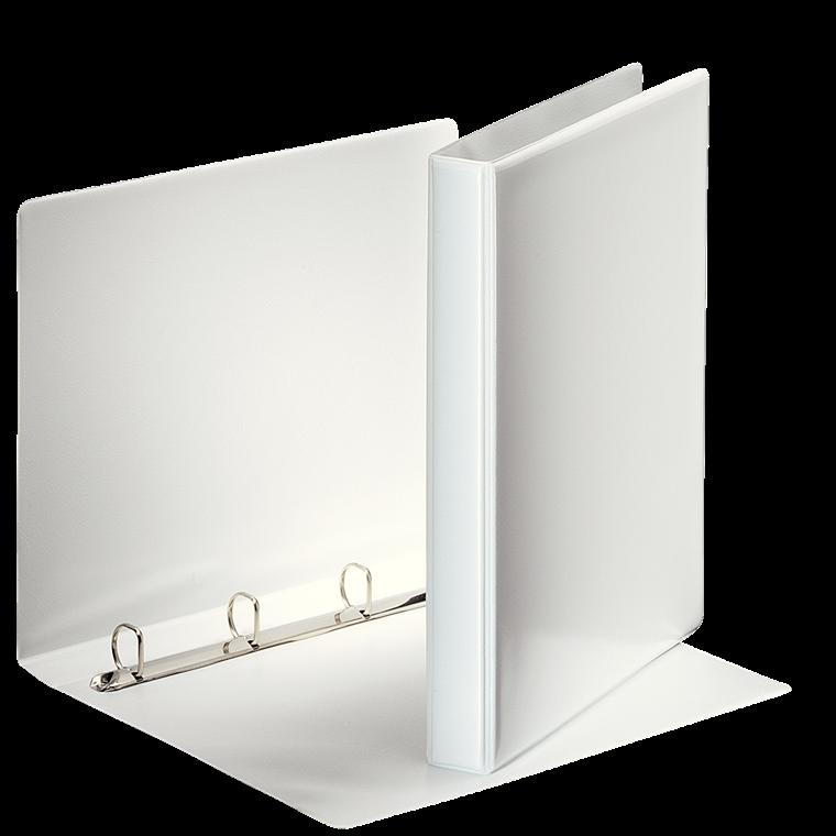 Indstiksmappe Esselte A4 hvid med 4 ringe og 38 mm ryg - 49701