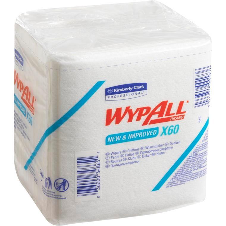 Industri aftørring WyPall X60 1/4 fold i pose hvid Bredde 31,5 | Længde 36,5 cm