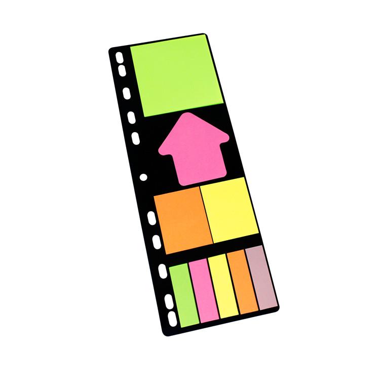 Info indexfaner mappe sæt - 9 forskellige indexfaner - 9 x 25 stk