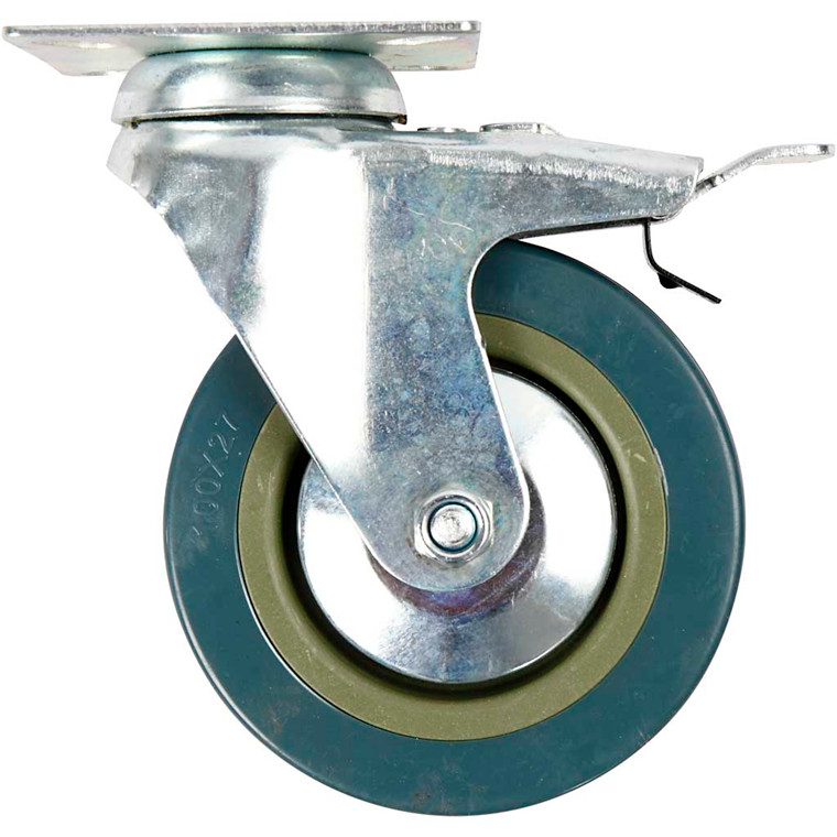 Inventarhjul, H: 13 mm, dia. 100 mm, 4stk.