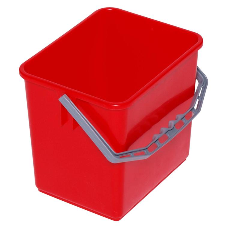 Inventarspand, rød, 6 l, 19 cm,