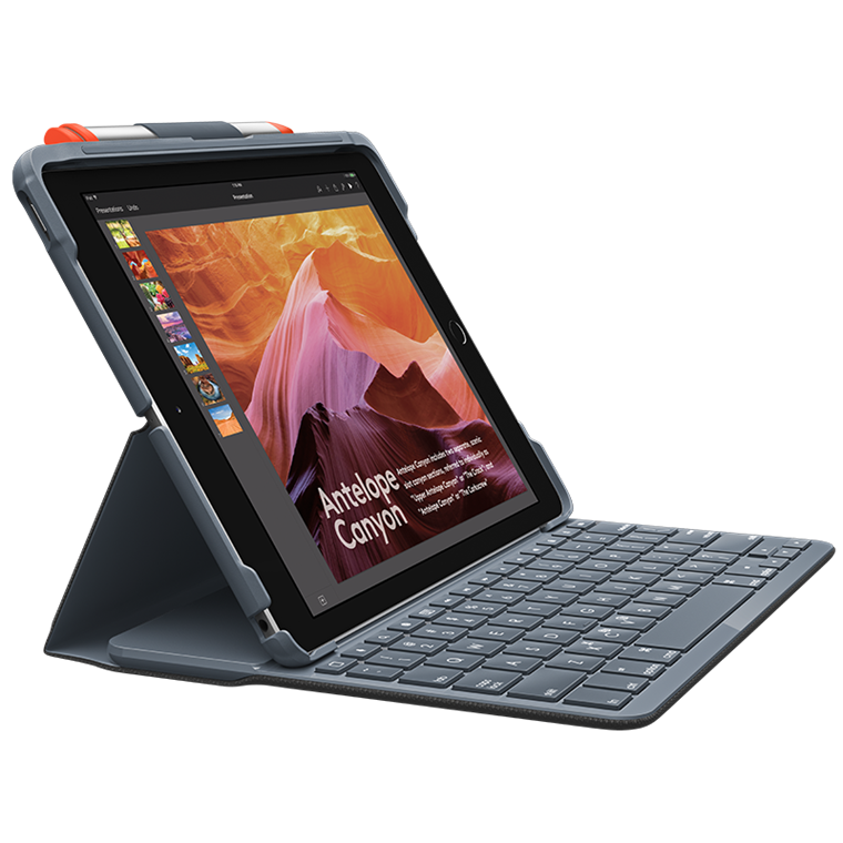 Ipad Air Cover Logitech Slim Folio (3rd gen.), Graphite nordisk tastatur