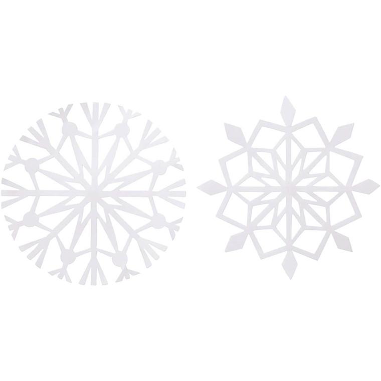 Iskrystal diameter 14 cm 100 gram hvid - 16 assorteret